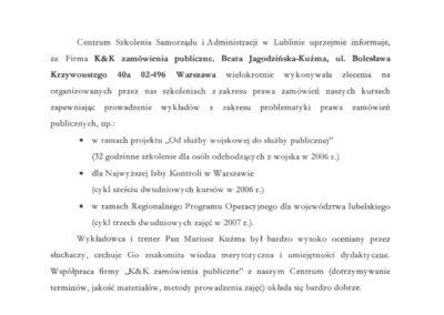 Centrum Szkolenia Samorządu i Administracji w Lublinie